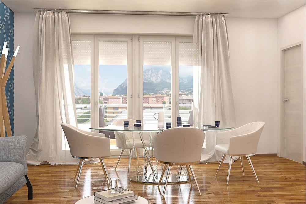 Residenza San Martino a Lecco: interni moderni e spaziosi